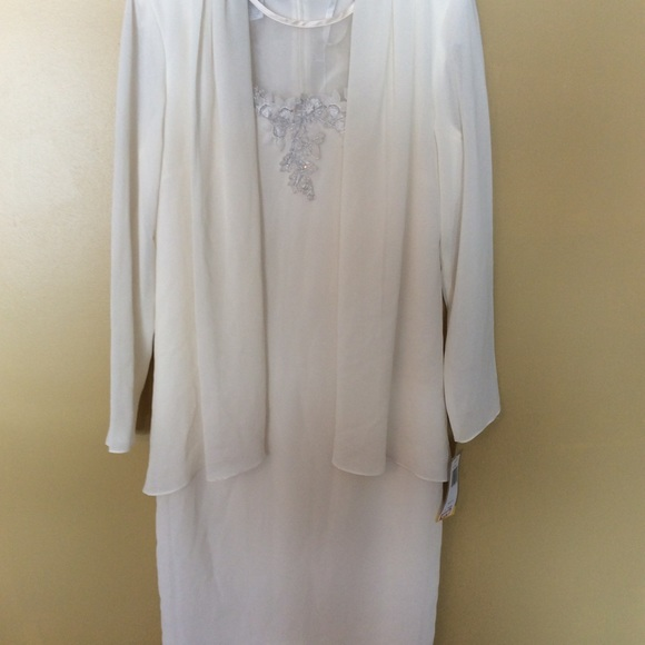 695a884c910 Ivory fancy mother of bride dress. NWT. Patra